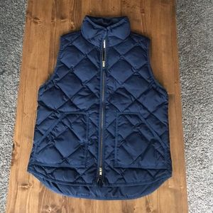 J Crew factory navy quilted puffer vest